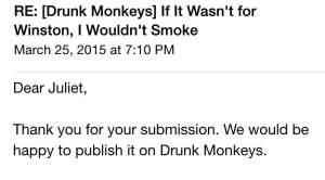 Drunk Monkey Accept