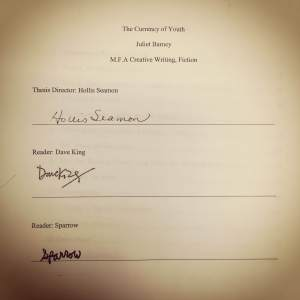 Thesis Signature